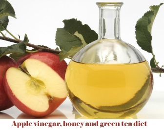 Apple vinegar, honey and green tea diet
