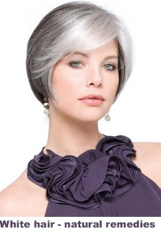 White hair – natural remedies